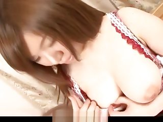 Sweet maid, Aoi Mizumori, pleases two tasty cocks