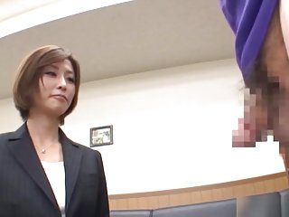Akari Asahina hot Asian milf is one horny office lady