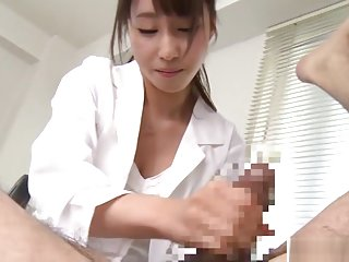 Shunka Ayami wild Asian nurse gives amazing handjob