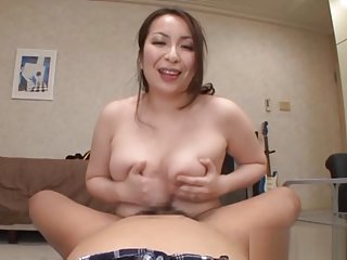 Aoi Aoyama naughty Asian office lady gets hand work in the office
