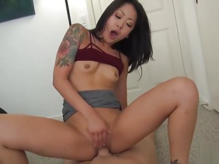 Hot Sensual Asian giving away the goodies