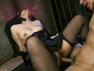 Teasing breasty asian Sho Nishino featuring hot creampie