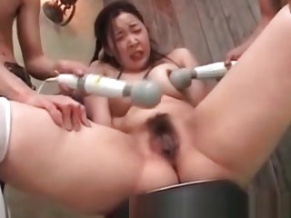 Uncensored Japanese Porn MILF tortured by two guys