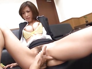 Akari Asahina Asian office lady gets fingering while at work