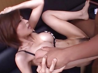 Akari Asahina horny Asian office lady is into swallowing cum